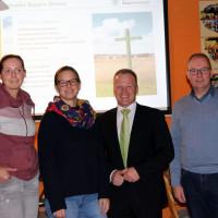 v.l.n.r.: Landratskandidatin Luise Bader, Katja Vielweib, Thomas Wörz u. Mathias Leltzing